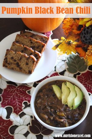 Pumpkin Black Bean Chili + How to Make Pumpkin Puree |NuVision |