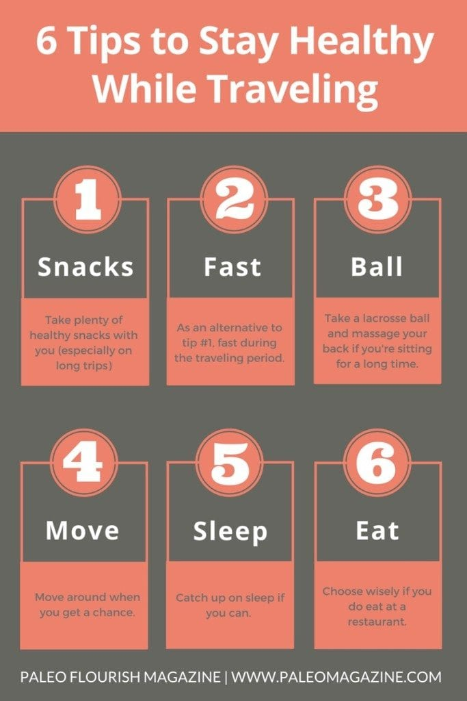 6 Awesome Tips to Stay Healthy While Traveling InfoGraphic