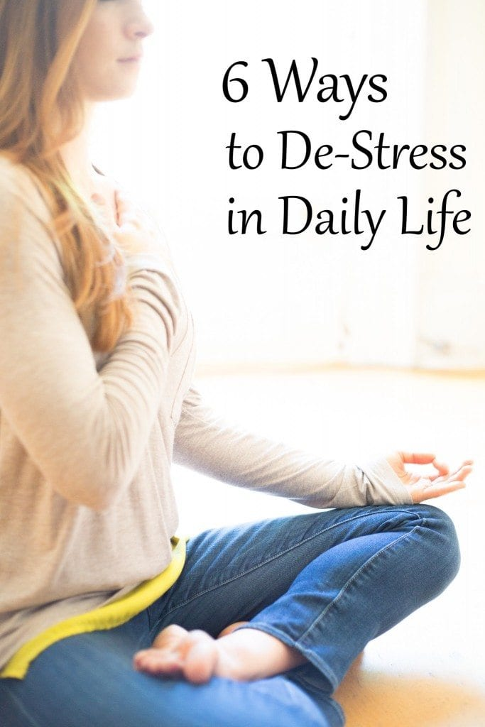6 ways to de-stress in daily life