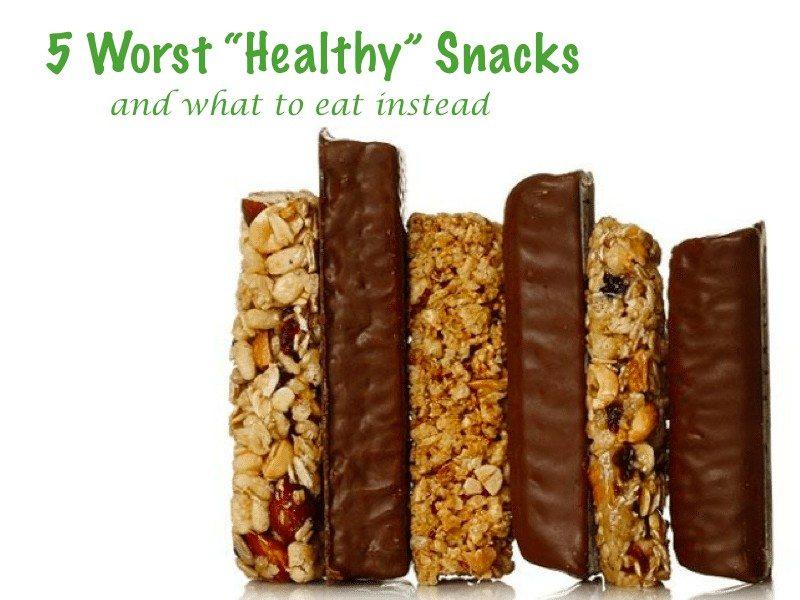 worst healthy snacks