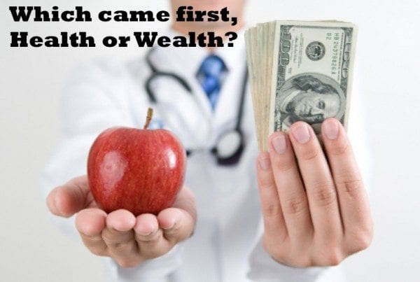 Which Came First, Health or Wealth?