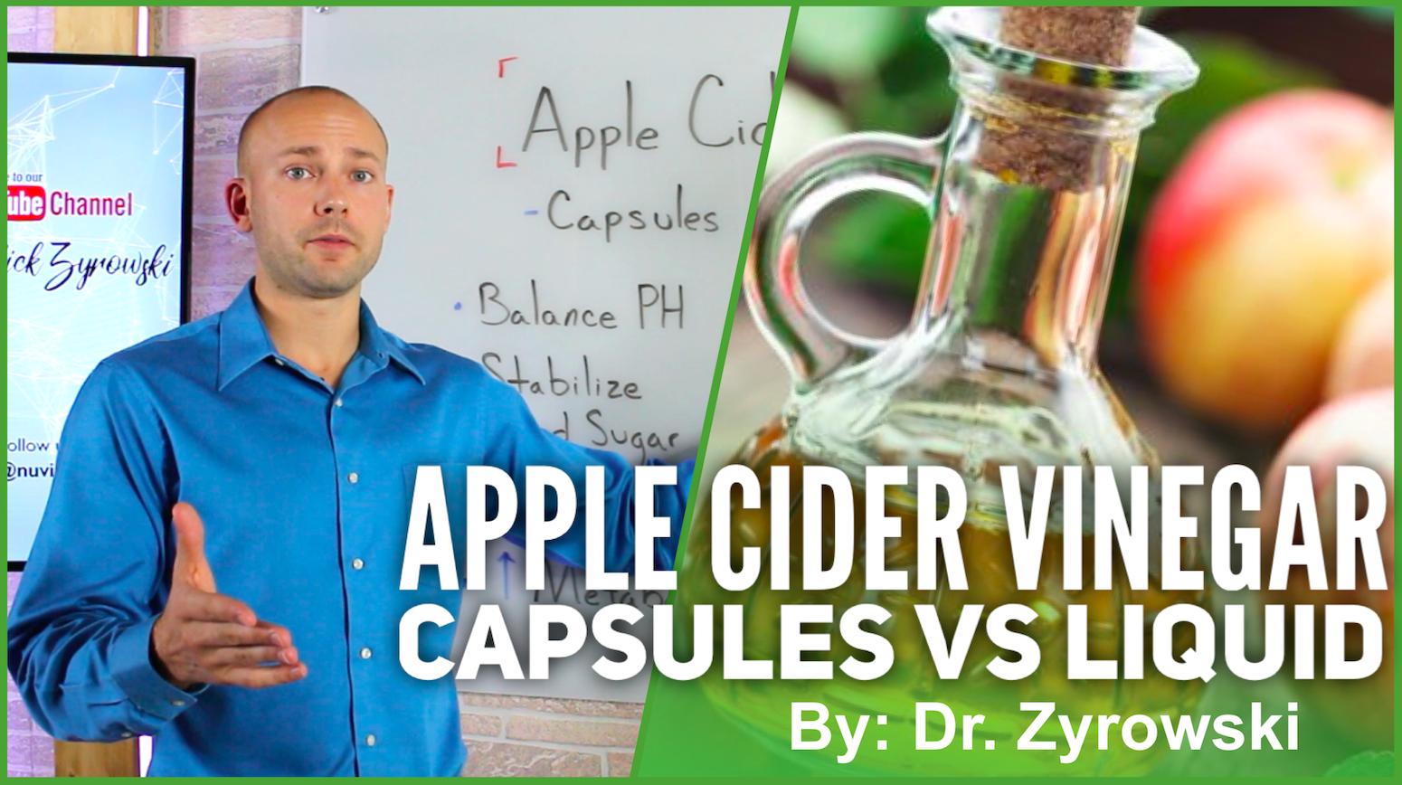 Apple Cider Vinegar Capsules Vs Liquid